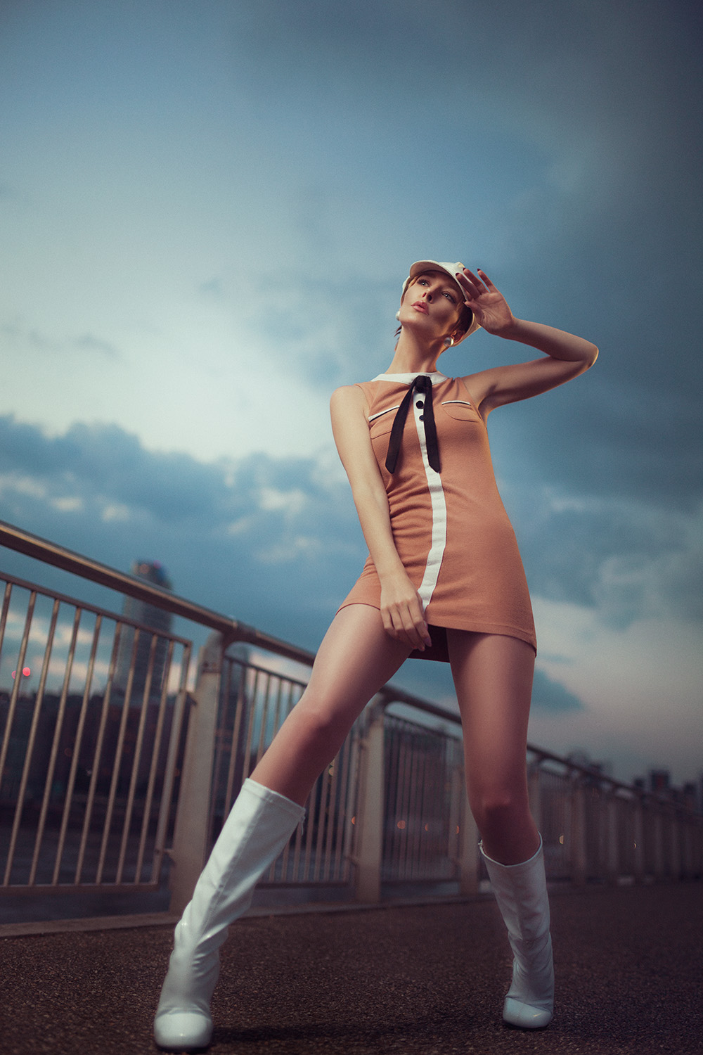 Sixties themed photo shoot taken beside the river Thames.